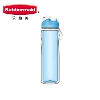 乐柏美(Rubbermaid)Tritan双层系列水瓶500ML透明蓝