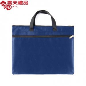 正彩(ZNCI)手提文件袋帆布公文包办公用品双层商务会议资料袋事务包定制