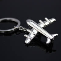 创意实心金属小飞机汽车钥匙扣