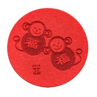 鸡年毛毡杯垫6件套茶杯垫隔热防滑吸水杯垫定制