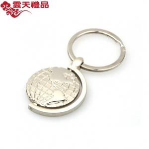可旋转地球的钥匙扣圆形地图造型商务礼品