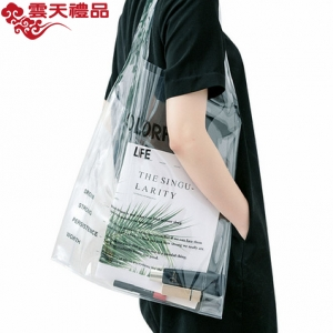 网红透明袋定制PVC斜跨手提塑料果冻袋定制