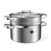 德国米技/miji 银河系列 24CM不锈钢汤锅带蒸格套装