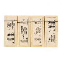 日韩国文具DIY笔盒抽屉式木制收纳盒