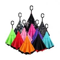 创意双层伞免持式长柄伞男女晴雨两用伞