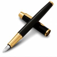 派克(PARKER) IM系列 纯黑丽雅金夹墨水笔/钢笔