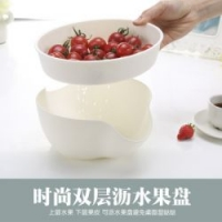 双层沥水塑料水果盘创意现代客厅家用茶几懒人果盆