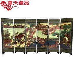 仿古漆器小屏风装饰摆件中国特色木质工艺品