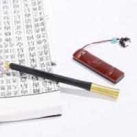 特色中国风企业会议外交礼品红木签字笔U盘办公室二件套