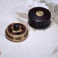 特色中国风外交会议送礼铜木传奇文房2件套