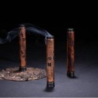 中国风红木香炉寺庙法会高档会所送礼云水立香炉2件套