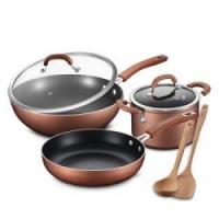 爱仕达锅具套装不粘锅少油烟三件套炒锅汤锅煎套装锅具组合三件锅