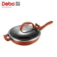 德铂Debo炒锅炒菜锅33cm3003合金聚能厚锅