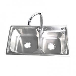 鸥利龙304不锈钢双层过滤水槽
