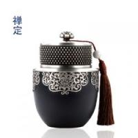 禅心禅定金属纯锡茶具茶叶罐公司年会创意礼品