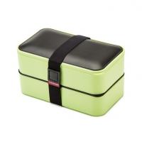 时尚日本双层塑料密封保温饭盒