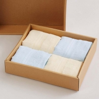 博洋家纺 舒影年华经典套装舒适柔软毛巾礼盒4件套