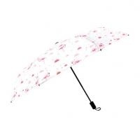 韩国小清新粉红火烈鸟晴雨伞黑胶防紫外线折叠遮阳伞