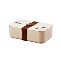 高档时尚创意环保礼品盒健康谷壳纤维饭盒配餐便当盒套装