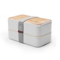 新款双层便当盒保鲜盒日式学生塑料方形饭盒便当盒2层保温盒