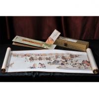 真丝织锦陆上《丝绸之路》长卷一带一路丝绸画中国风礼品
