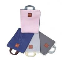 贝多美韩国拉链多功能多层A4文件袋学生手提iPad电脑包