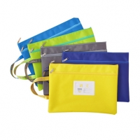 科目分类文件袋拉链帆布A4小学生用分类大容量试卷收纳袋书袋