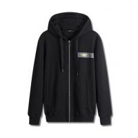 新款男式运动卫衣纯棉欧美简约黑色外套