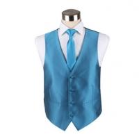 纯色工服马甲套装时尚潮流男士马甲领带