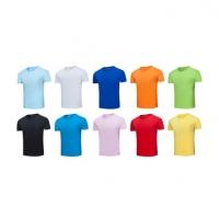 210g圆领精梳纯棉T恤企业员工服可定制图案