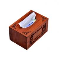 典雅大气高档木质纸巾盒红木黑胡桃木车载纸巾盒