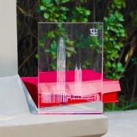 K9水晶內雕图案定制水晶奖杯水晶摆件