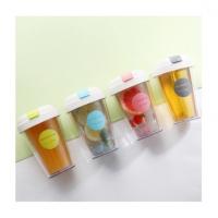 韩版大容量透明成人吸管塑料水杯简约咖啡奶茶随手杯子