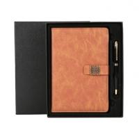 a5带扣笔记本子商务礼盒套装文具办公仿皮记事本