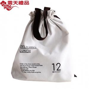 37度生活 原创束口手提便当袋 可爱清新手提包