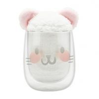 故宫御猫双层玻璃杯 玻璃水杯 可爱礼物 创意可爱玻璃杯定制