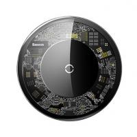 倍思 极简无线充电器 超薄便捷式玻璃透明款无线充 快充无线充定制