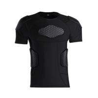 运动蜂窝健身防撞衣 篮球橄榄球运动训练比赛防撞短袖 紧身速干防撞衣定制
