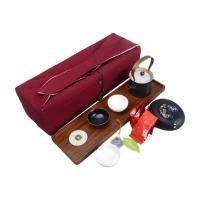 旅行茶具套装 一壶三杯金镶玉黑陶功夫茶具 便携旅行茶具定制