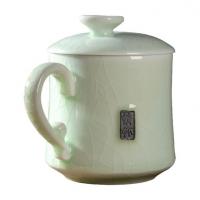 陶瓷情怀哥窑自在杯茶具茶杯快客杯便携自带过滤茶杯礼盒定制