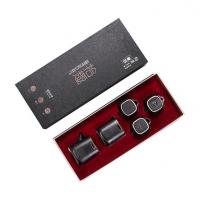 德化黑陶茶具套装 鎏银功夫茶具八件套高档茶具套装定制