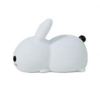 硅胶玉兔LED小夜灯USB充电双色调光呆萌兔子拍拍灯儿童起夜伴睡灯定制