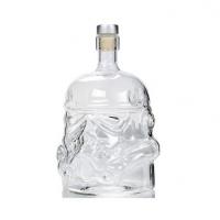 外贸星球大战黑武士白兵酒瓶伏特加烈酒壶威士忌高硼硅玻璃醒酒器定制