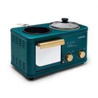 唯悟wildwood多功能F7-1早餐机四合一多士炉家用煮蛋器煎蛋电火锅电烤箱轻食料理机定制