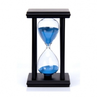 七彩沙玻璃沙漏15分钟抛光计时器创意沙漏时间流沙摆件定制