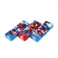 迪士尼文具盒 创意儿童卡通多功能铅笔盒 小学生男孩双层塑料笔盒定制