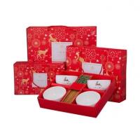 青花碗筷套装创意礼品陶瓷碗餐具套装定制