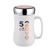 创意卡通陶瓷杯子带盖镜面马克杯情侣咖啡杯办公牛奶杯定制