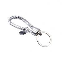 金属编织皮绳钥匙扣 手工编织绳汽车钥匙圈 挂件礼品赠品创意配饰定制
