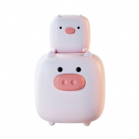 猪太郎智能闹钟 小夜灯USB充电卡通情感床头闹时钟灯定制